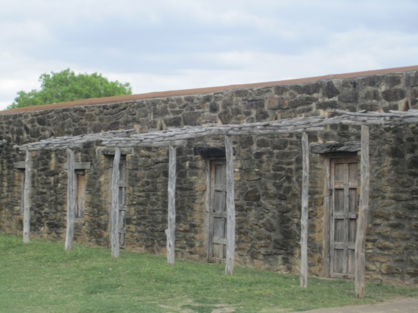 Quarters for Native Americans built in the community walls.