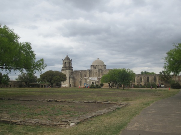 The broad grounds of San Jose, foundation in the foreground