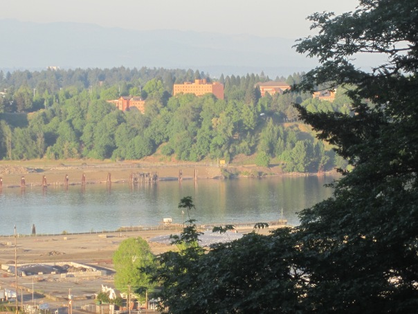 Looking back toward home and the University of Portland