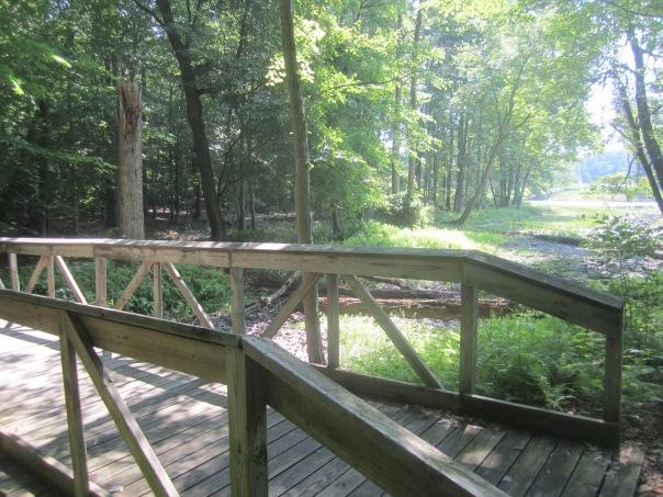 Bridge by end of Cash Lake