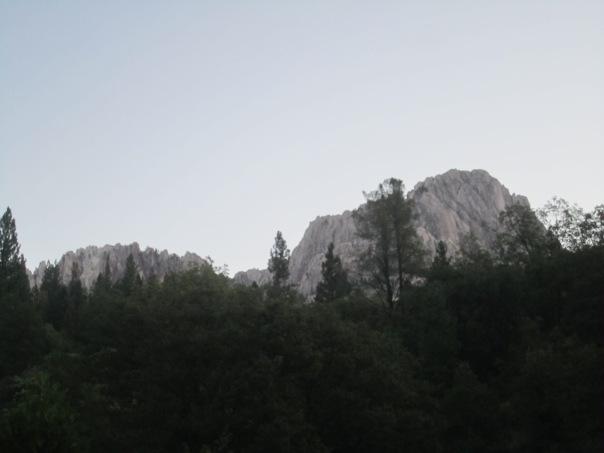 Castle Crags at dawn