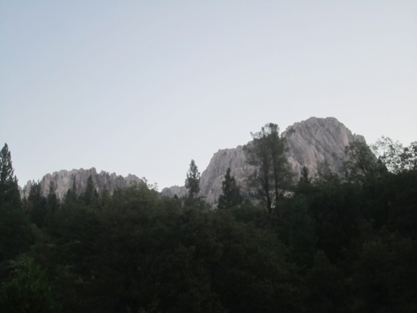 Castle Crags at dawn