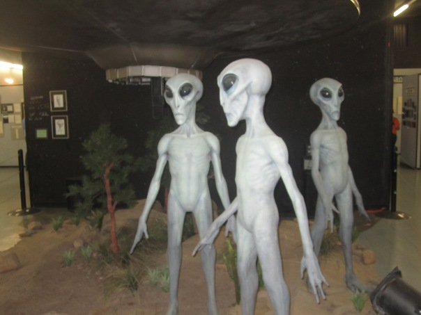 These guys wouldn't talk to us.  The UFO museum before we left town.
