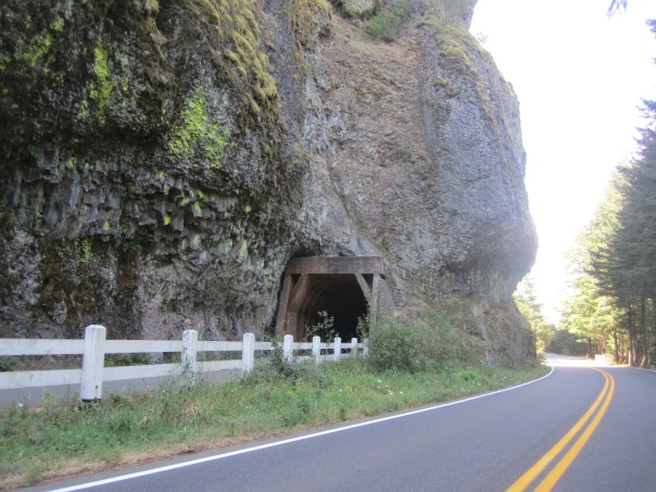 The tunnel where the road once went.