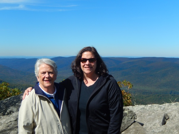Mom and Sarah atop Wind Rock.
