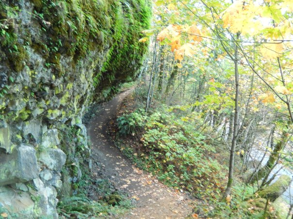The overhang and trail dip