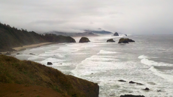 Looking south from a viewpoint, Ecola State Park