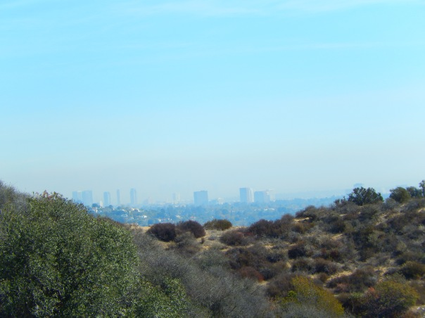 Looking towards downtown L.A. in the hazy distance