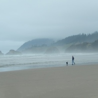 Looking north towards Ecola State Park