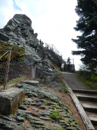 The steps to the popular perch at Sherrard Point