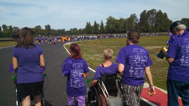 The sea of purple at Portland's 2015 Alzheimer's walk.