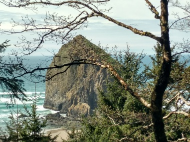 Haystack Rock from the solitude above