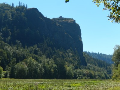 Looking up at Crown Point